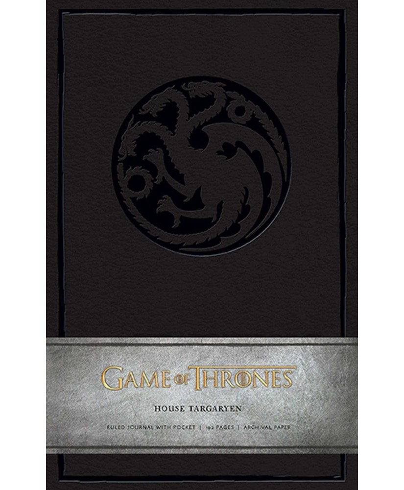 Game of Thrones: House Targaryen Hardcover Ruled Journal - Insights Journals