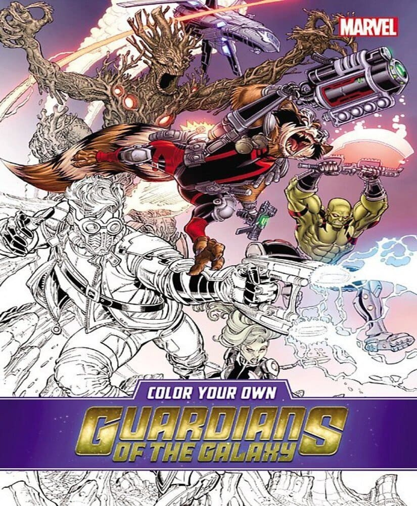 Comic Color Your Own Guardian Of The Gal